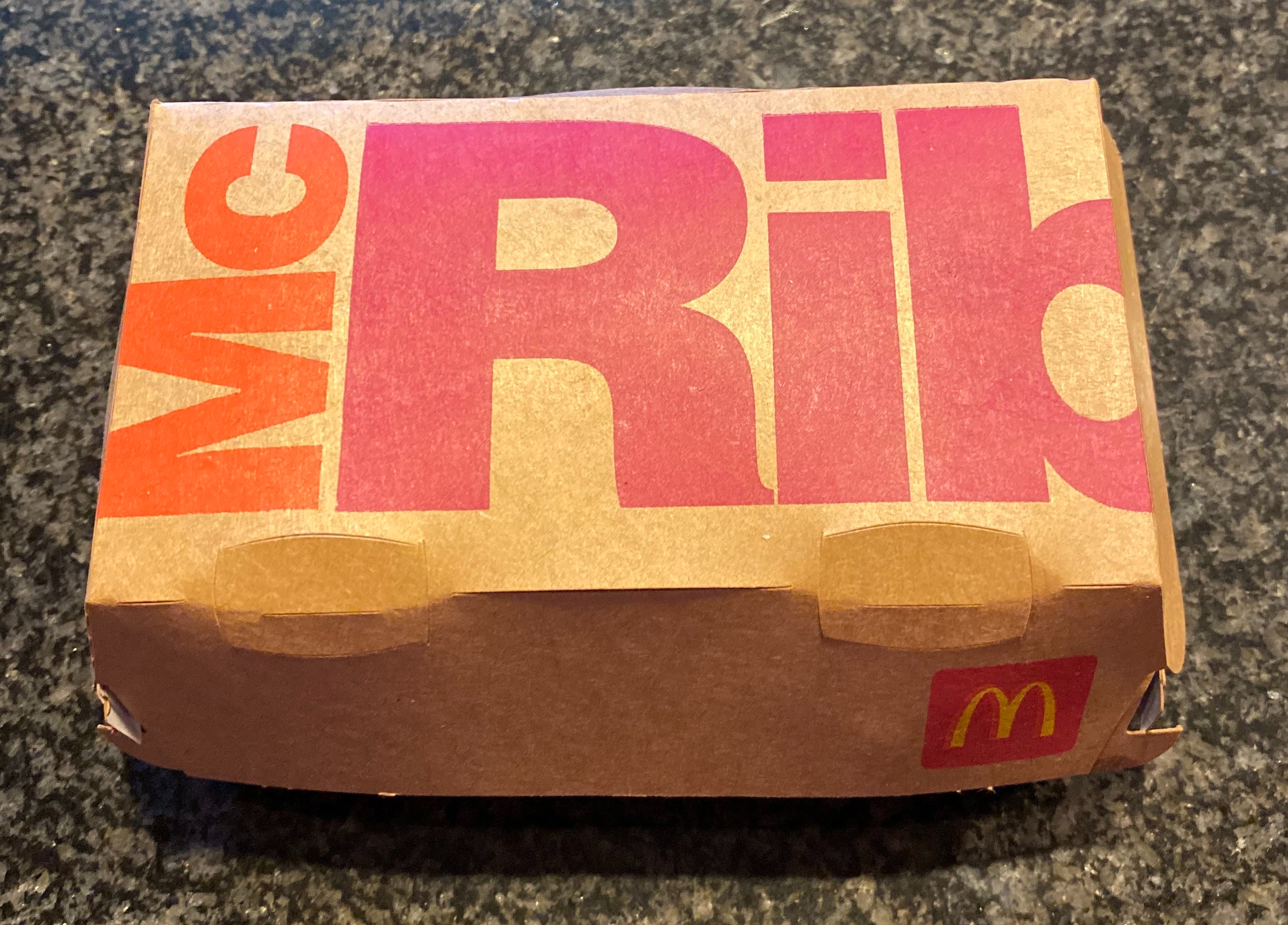 The McRib comes in its own packaging and its own barbecue sauce.
