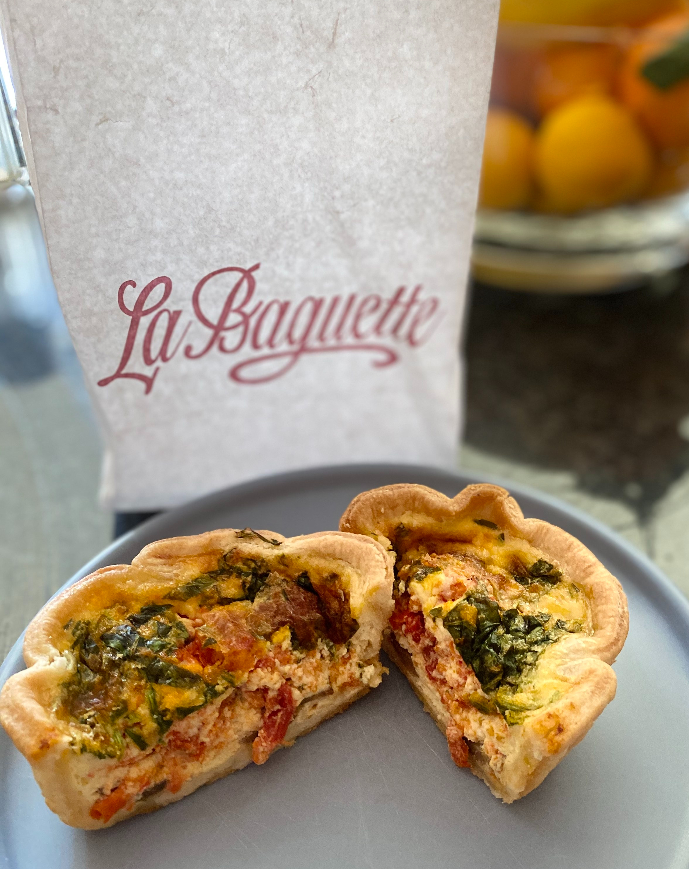 La Baguette sells some of the best Parisian food around. Check out their quiches and sandwiches.